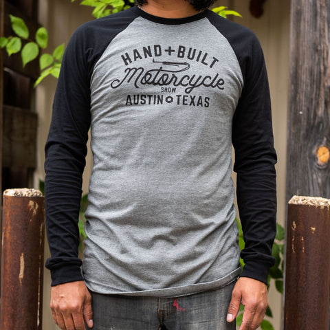 Handbuilt Show Script Baseball Shirt - Grey/Black