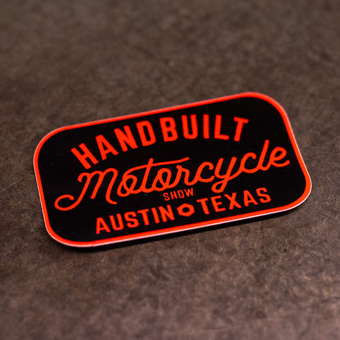 Handbuilt Show Sticker Red Script