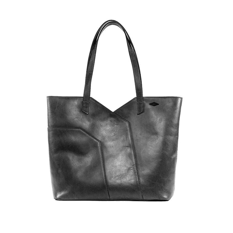 Front view of the black Terlingua Tote Bag