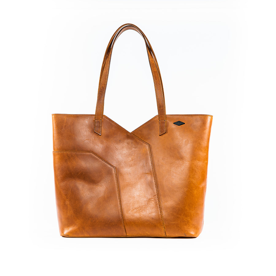 Front view of the tan Terlingua Tote Bag