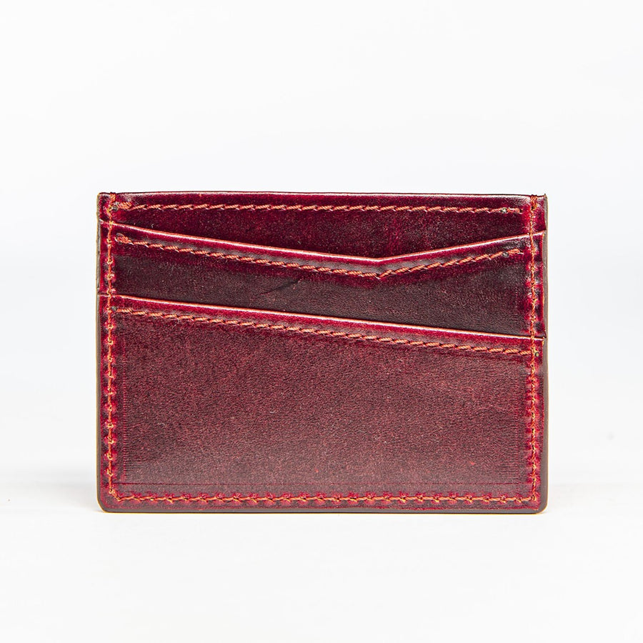 Alimony Card Wallet in Oxblood