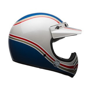 Bell Moto 3 RSD Malibu Helmet - Side View - Revival Cycles