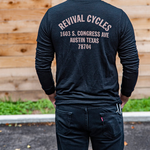 Revival Cycles Anchor Revisited Long-Sleeve - Black Slub