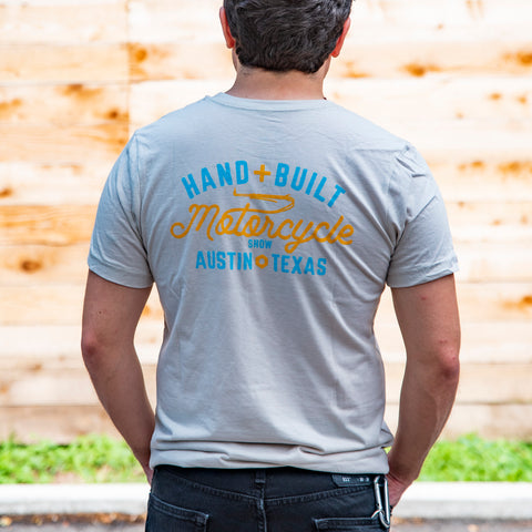 Handbuilt Show Crest Anchor T-Shirt - Heather Dust