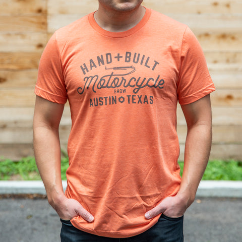 Handbuilt Show Script T-Shirt - Heather Orange