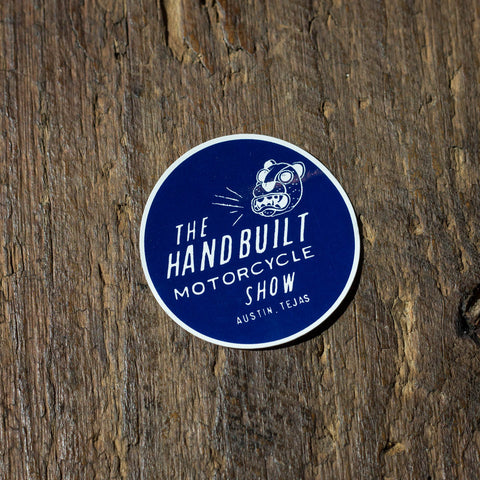 Handbuilt Show Jaguar Sticker - Navy
