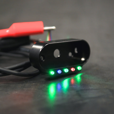 These LED indicator lights are great for providing valuable feedback when riding.