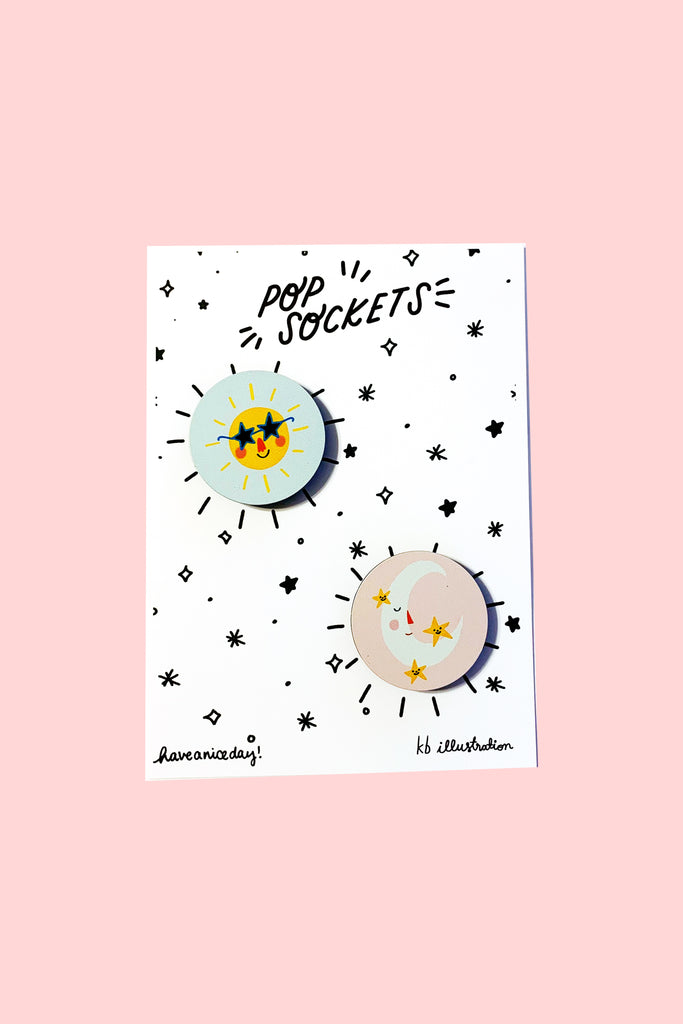 Sun & Moon Pop Sockets