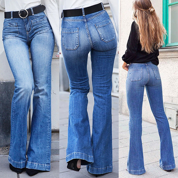 High Waist Bell Bottom Bootcut Jeans