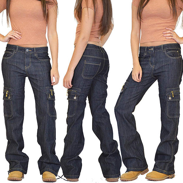 Wide Leg Hiking Multi-pocket Cargo Pants Combat Jeans