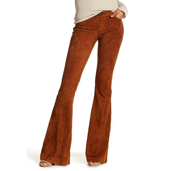 High Waist Corduroy Bell-Bottom Flare Pants