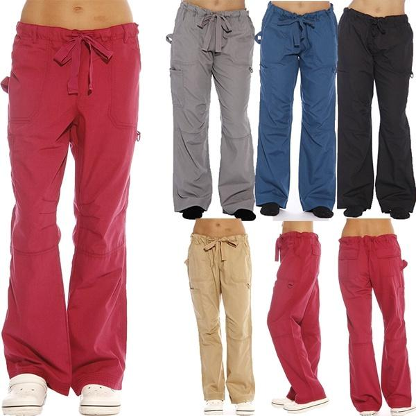 Casual Utility Work Out Scrub Baggy Cargo Pants