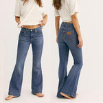70s Stretchy Soft Hip Hugger Bell Bottom Jeans