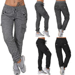 Casual Soft Elastic 6 Pockets Organic Cotton Sweatpants