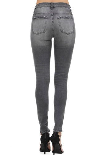 Grey High Rise Skinnies