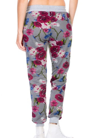 French Terry Floral Joggers
