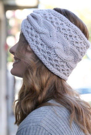 Cable Knit Bow Headband