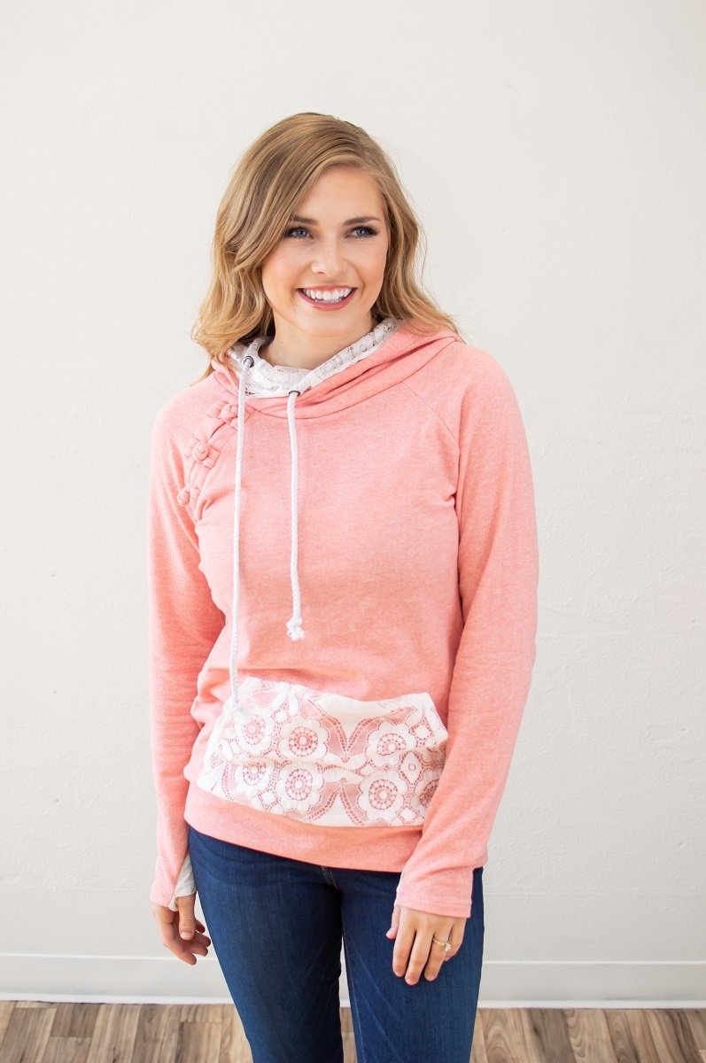 Pretty in Pink Laced Hoodie