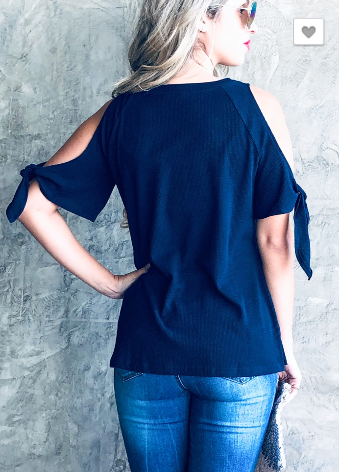 Open-Shoulder Tie Top