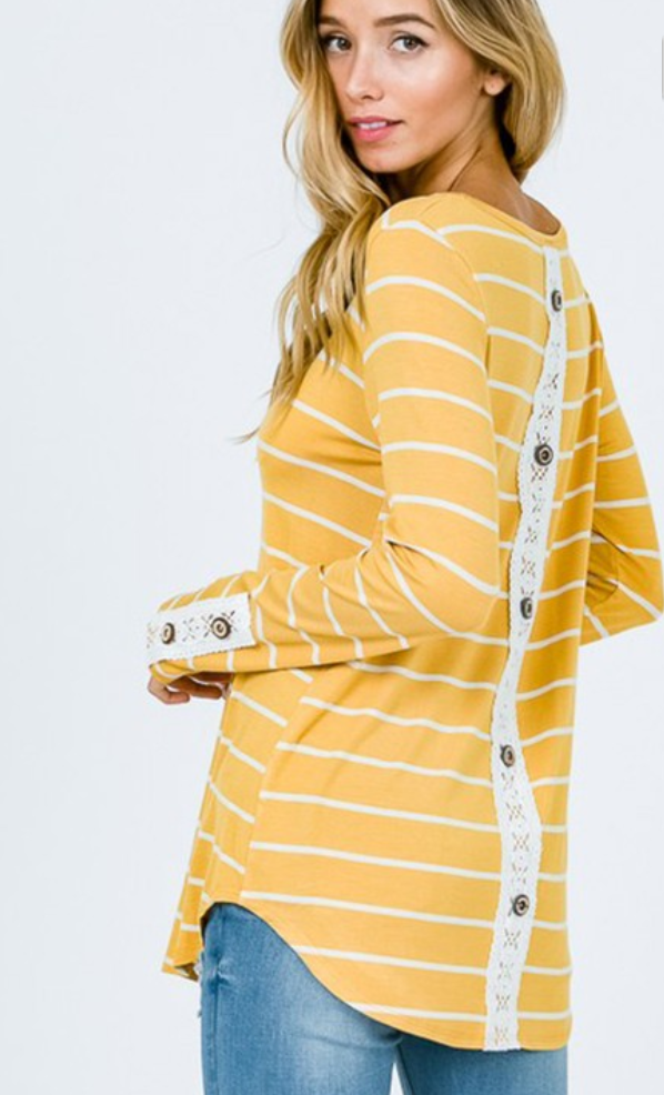 Mustard & Lace Tunic Top
