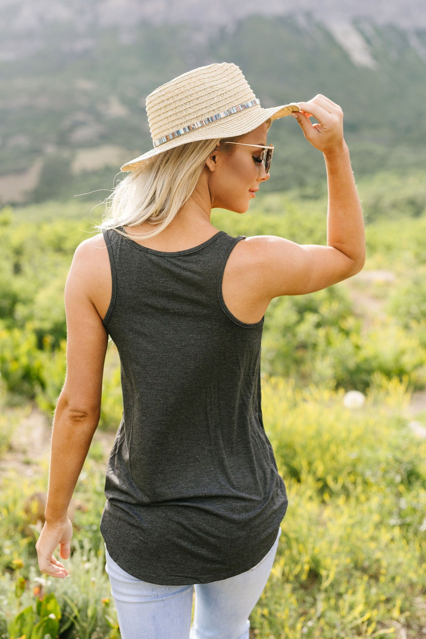 All Day Tank In Charcoal