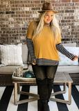 Chelsea Stripe & Solid Top