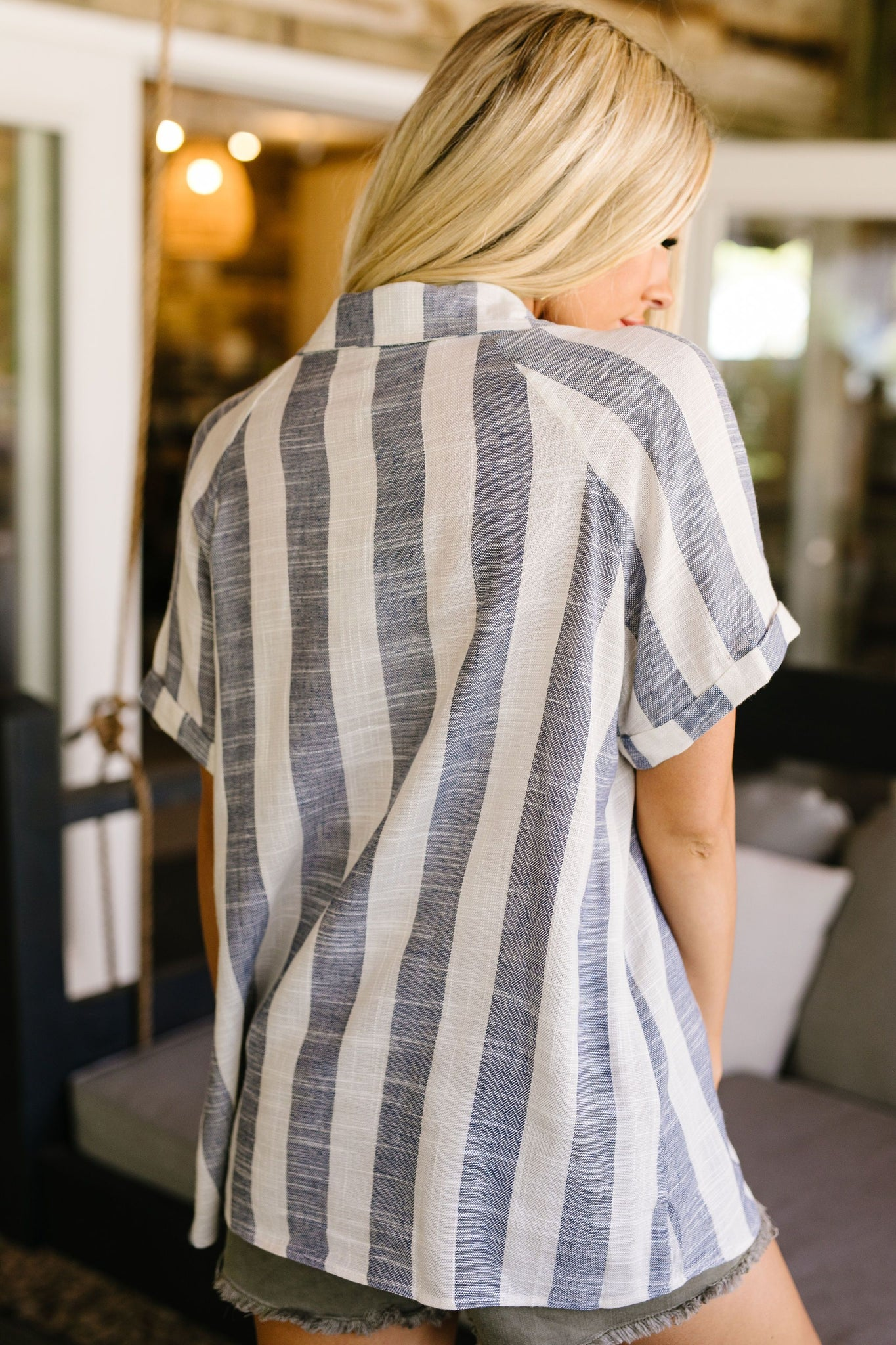 Classic Striped Button-Down