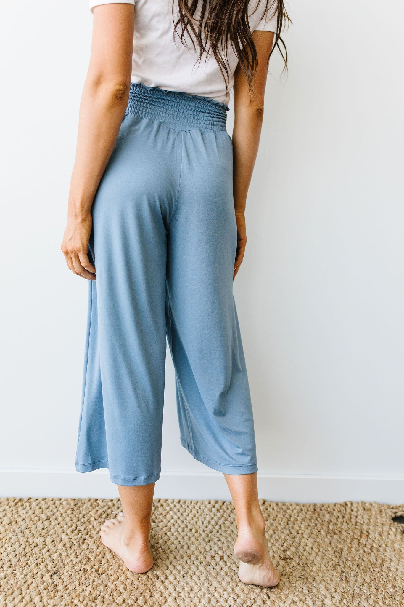 Go Get 'Em Gaucho Pants In Blue Gray