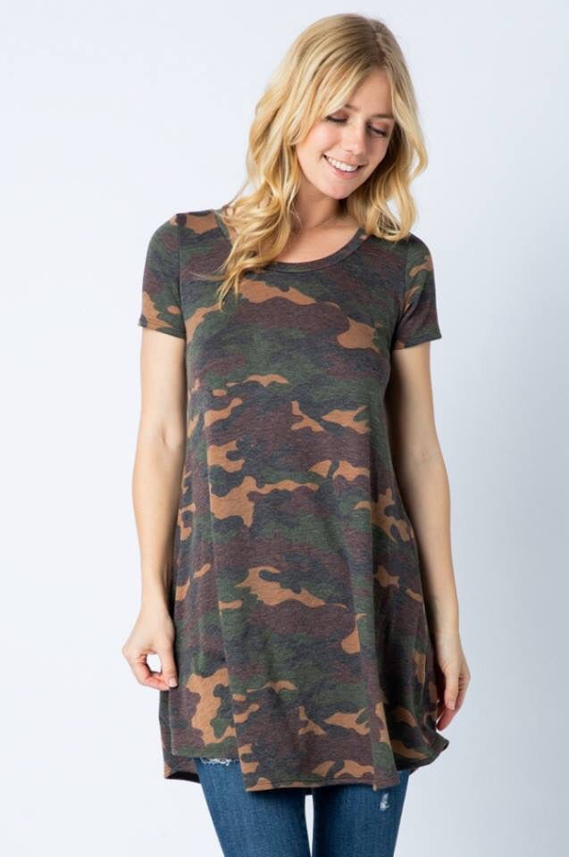 Camo Swing Tunic Dress