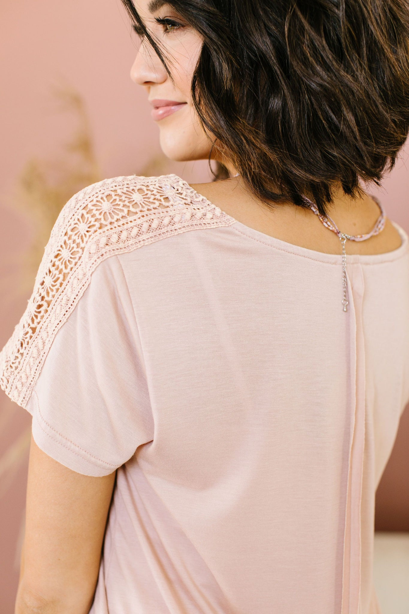 Love The Lace Top In Blush