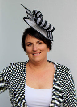 Striped Fascinator