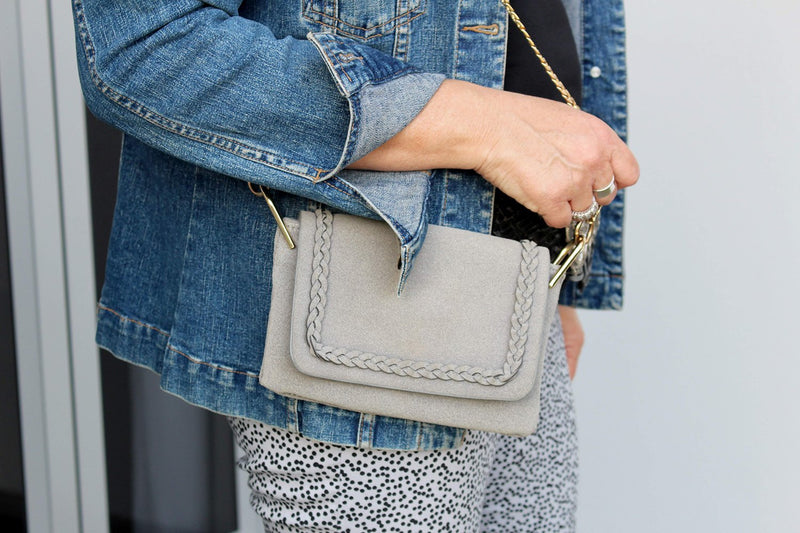 Small grey handbag