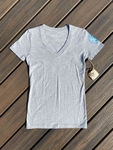 Womens Surflower V-Neck Tee