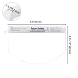 Anti-Fog Protective Face Shield Visor Clear 10-pack