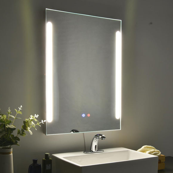 Lighted Bathroom Mirror Anti-Fog Frameless 2-Lights 32x24in