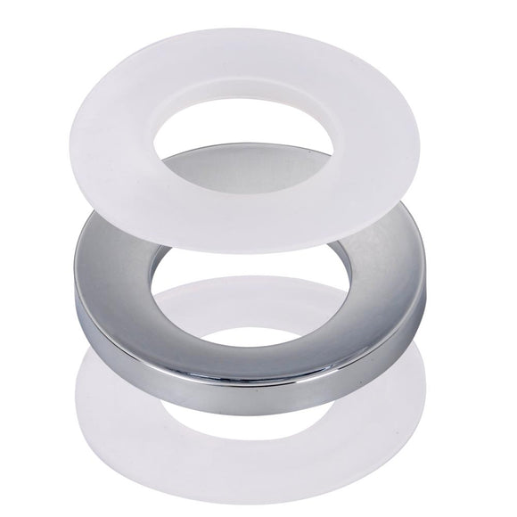 Aquaterior Chrome Mounting Ring for Bathroom Sinks