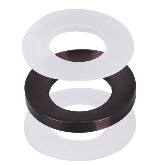 Aquaterior Oil Rubbed Bronze Mounting Ring for Bathroom Sinks