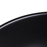Aquaterior Bathroom Porcelain Sink Round w/ Drain Black
