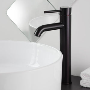 "Aquaterior 12"" One-Handle Oil Rubbed Bronze High-Arc Bathroom Faucet"