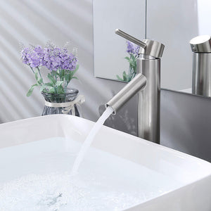 "Aquaterior Vessel Faucet Brushed Nickel One-Handle 13""H"