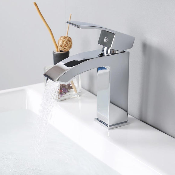 Aquaterior Single-Hole Faucet Chrome 1-Handle Square 7