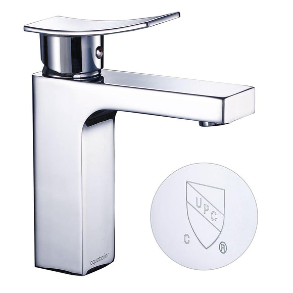 Aquaterior Single-Hole Faucet Chrome 1-Handle Square 7.5