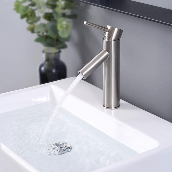Aquaterior Single-Hole Faucet Brushed Nickel 1-Handle 9