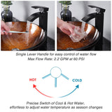 "Aquaterior Vessel Faucet Oil Rubbed Bronze 1-Handle Square 11""H"
