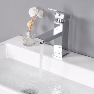 "Aquaterior Single-Hole Faucet Chrome 1-Handle Square 7""H"