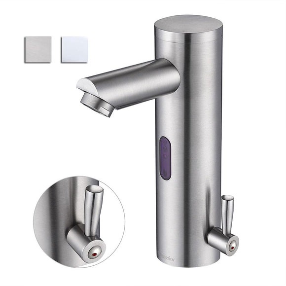 Aquaterior Touchless Bathroom Faucet Hot & Cold 8