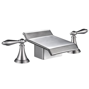 Aquaterior 2-handle Widespread Bathtub Faucet Brushed Nickel