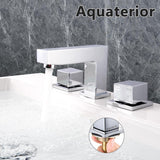 "Aquaterior Widespread Bathroom Faucet 2-Handle Chrome 4""H"
