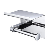 Toilet Roll Holder with Shelf, Stainless Steel
