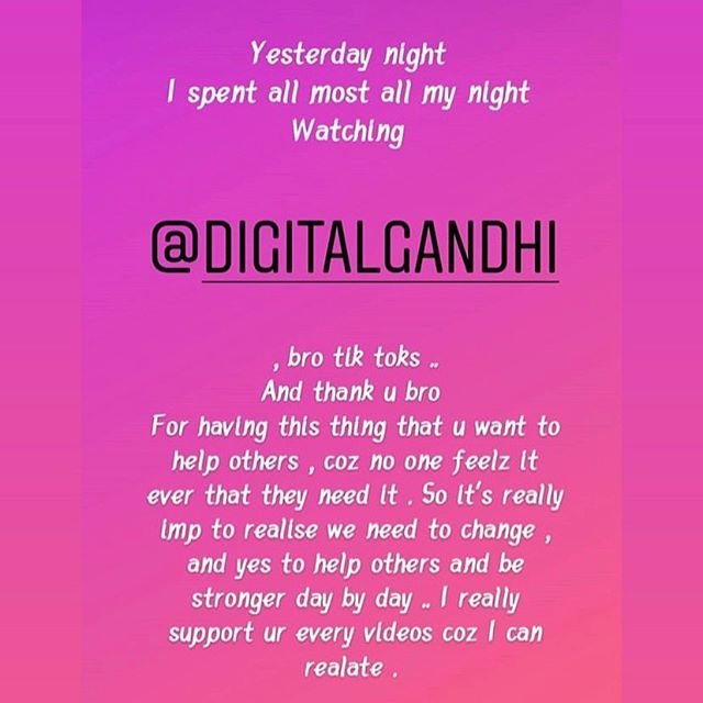 Review love it  Digital Gandhi...